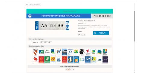 Module Plaque Immatriculation Prestashop - Infobia PlaquePerso